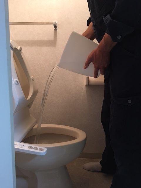 トイレ詰まり直し方